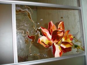 Специальные декоративные пленки для прозрачных основ ( стекла )