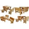 Дубовый набор мебели - Банный (табурет – дубовый лист) .