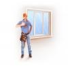 Замена стекла в окне,    замена стеклопакета в Минске